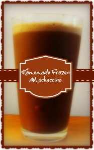 homemade frozen mochaccino